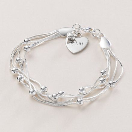 Beautiful Chain Bracelet with Engraving